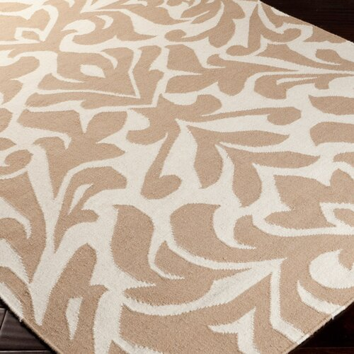 Market place praline whitebrown area rug wayfair supply for Candice olson area rugs