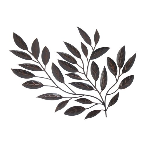 Legacy home forged metal leaves sculpture wall decor for Leaf wall decor