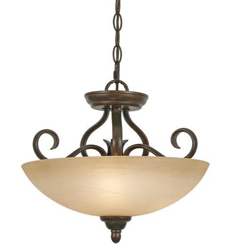 Golden Lighting Riverton 3 Light Convertible Inverted Pendant