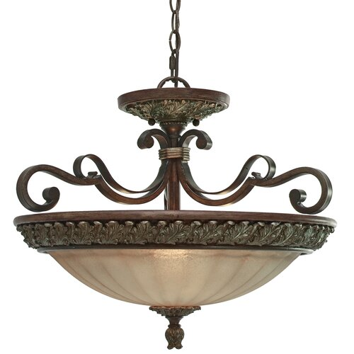 Bristol Place 3 Light Convertible Inverted Pendant