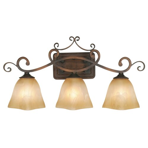 Golden Lighting Meridian 3 Light Bath Vanity Light