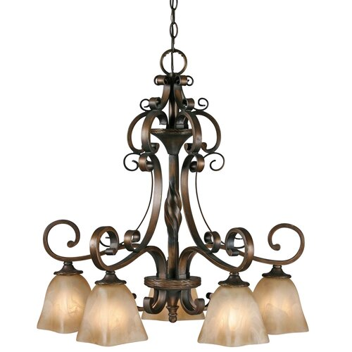Meridian 5 Light Nook Chandelier