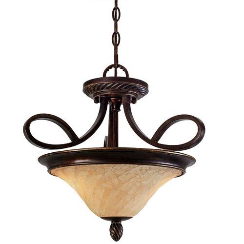 Golden Lighting Torbellino 2 Lights Convertible Inverted Pendant