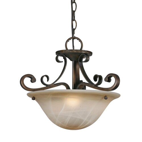 Golden Lighting Meridian 3 Light Convertible Inverted Pendant