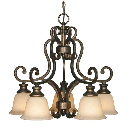 Golden Lighting Heartwood 5 Light Chandelier