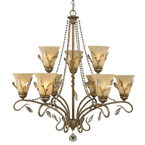 Beau Jardin 9 Light Chandelier