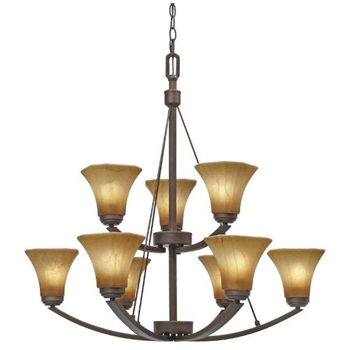 Golden Lighting Accurian 9 Light Chandelier