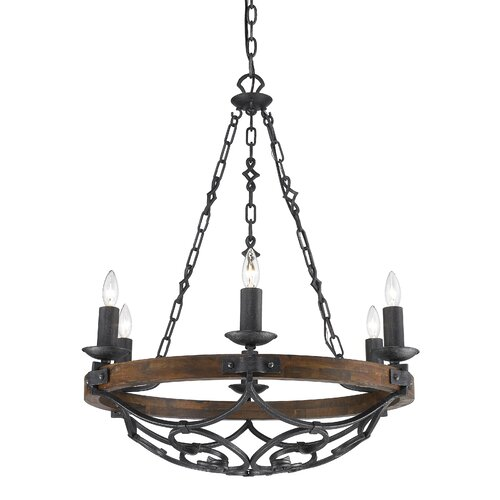 Golden Lighting Madera 6 Light Chandelier
