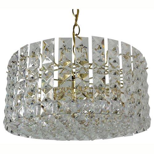 Prismatic Gem 6 Light Crystal Drum Chandelier