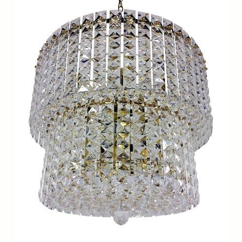 Prismatic Gem 9 Light Crystal Drum Chandelier