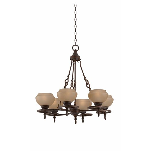 Gibson 6 Light Chandelier