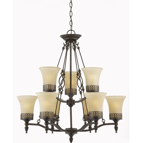 Triarch Lighting York 9 Light Chandelier