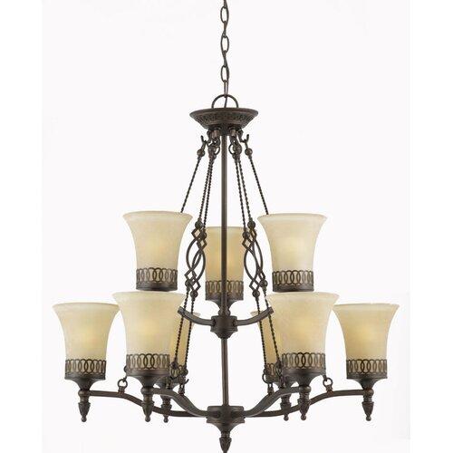 Triarch Lighting York 9 Light Chandelier