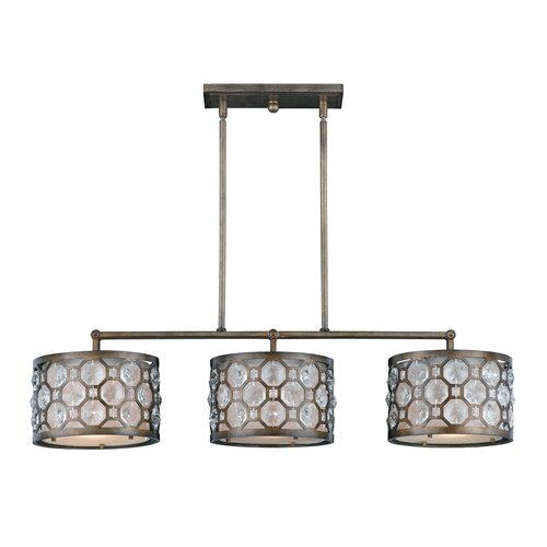 Triarch Lighting Cartier 3 Light Kitchen Island Pendant