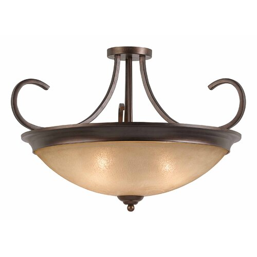 Triarch Lighting La Costa 4 Light Semi Flush Mount