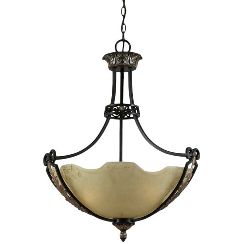 Triarch Lighting Corinthian 3 Light Inverted Pendant