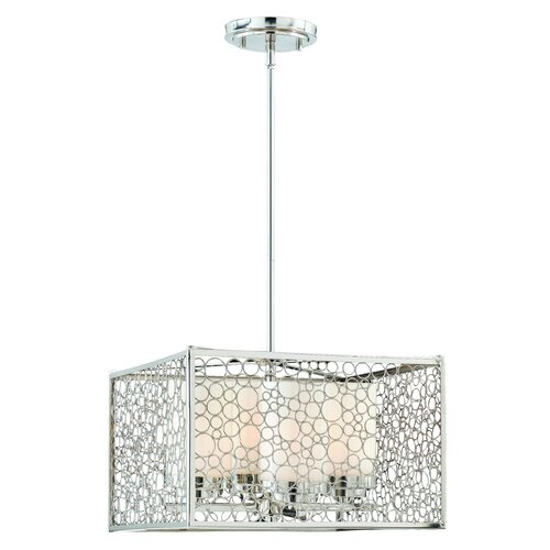Triarch Lighting Contempo 4 Light Drum Foyer Pendant