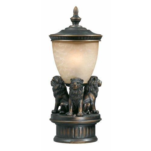 "Triarch Lighting Lion Exterior 1 Light 29"" Outdoor Post Lantern Set"