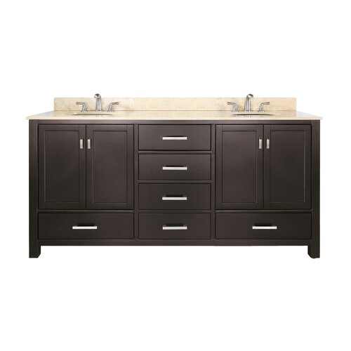 72 inch bathroom vanity wayfair for Bathroom 72 inch vanity