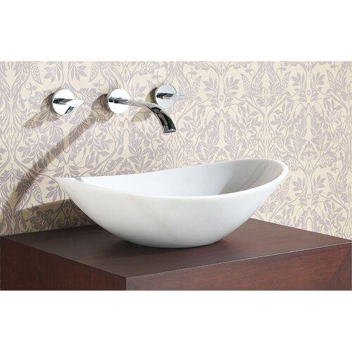 Oval Stone Vessel Bathroom Sink