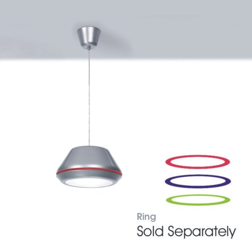 Zaneen Lighting Spool Pendant in Titanium Gray