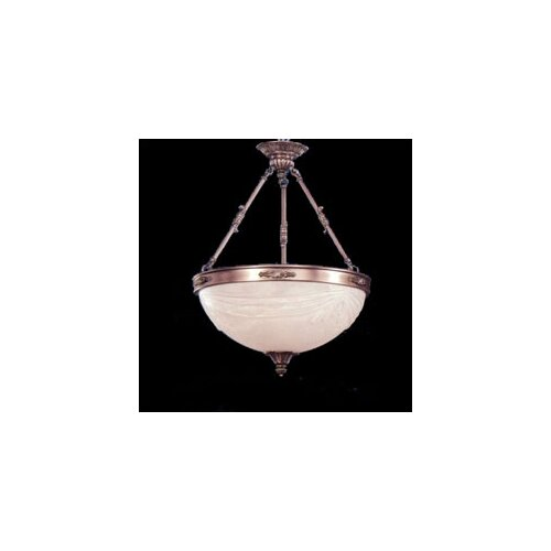 Zaneen Lighting Granada Traditional Pendant in Pewter