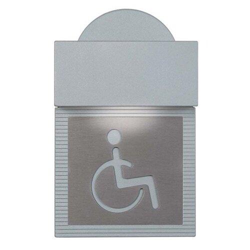 Zaneen Lighting Mini Signal Handicap Wall Light in Metallic Gray