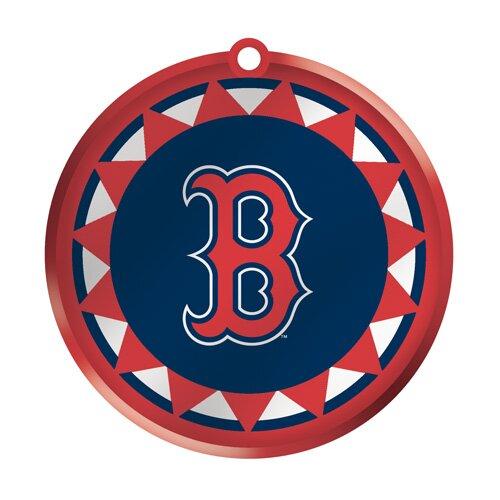 MLB Blown Glass Logo Disc Ornament