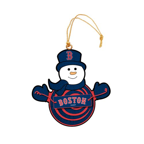 MLB Snowman Ornament with Sign