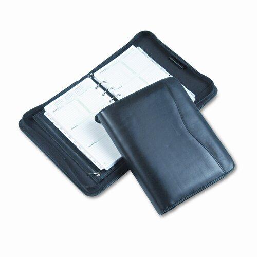 Day-Timer® Verona Leather Zippered Organizer Starter Set, 5-1/2 X 8-1/2