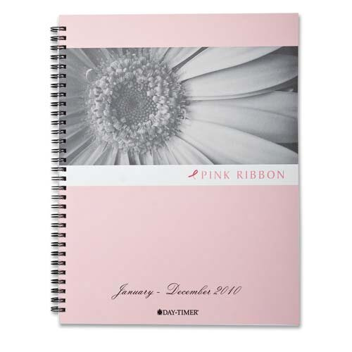"Day-Timer® Pink Ribbon Refill, Wirebound, 2PPW, 8-1/2""x11"", Jan-Dec"