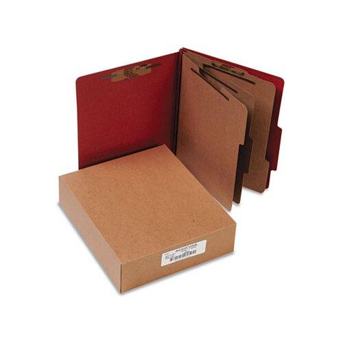 Acco Brands, Inc. Pressboard 25-Pt. Classification Folder, 8-Section, 10/Box