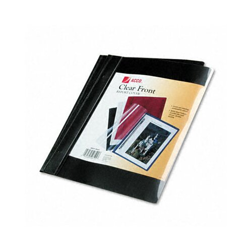 """Acco Brands, Inc. Vinyl Report Cover, Prong Clip, Letter, 1/2"""" Capacity"""