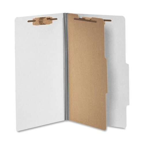 "Acco Brands, Inc. Classification Folders, 2"" Exp,Legal,1 Partition, Mist Gray"