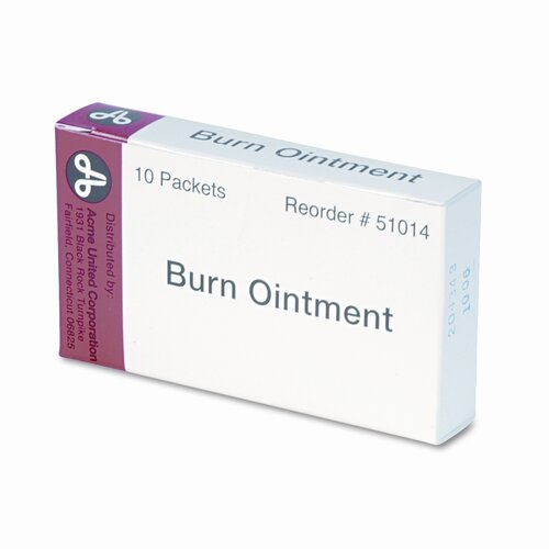 Acme United Corporation Burn Cream, 10 Per Box