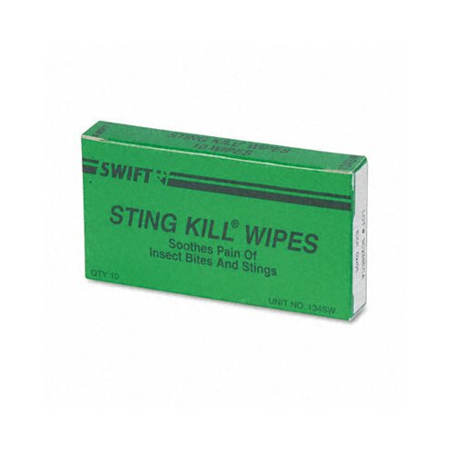 Acme United Corporation Physicianscare First Aid Sting Relief Pads, Box of 10