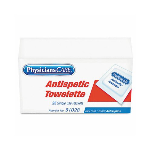 Acme United Corporation Physicianscare First Aid Antiseptic Towelettes, Box of 25