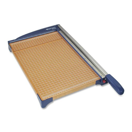 "Acme United Corporation Paper Trimmer, 12"", 14""x22-3/10""x3-3/10"", Woodgrain/Blue"