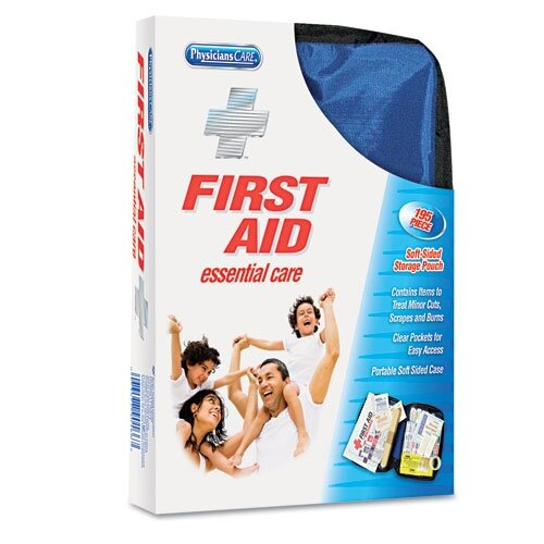 Acme United Corporation Physicianscare Soft-Sided First Aid Kit For Up To 25 People, Contains 195 Pieces