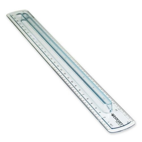 Acme United Corporation Westcott Finger Grip Plastic Ruler
