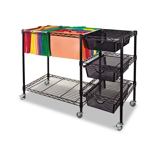 "Advantus Corp. 28"" Mobile File Cart"