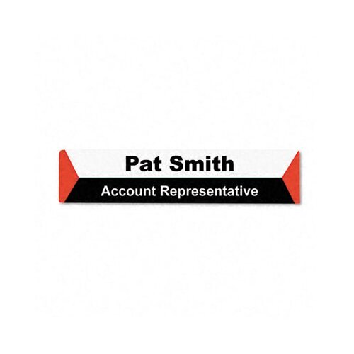 Advantus Corp. Panel Wall Sign Name Holder, Acrylic, 9 X 2, 6/Pack
