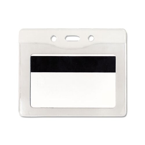 Advantus Corp. Security Id Badge Holder, Horizontal, 3 7/8W X 2 5/8H, 50/Box