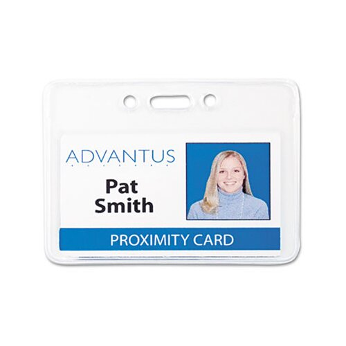 Advantus Corp. Proximity Id Badge Holder, Horizontal, 3 3/8W X 2 3/8H, 50/Pack