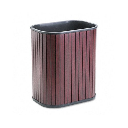 Advantus Corp. Rectangular Hardwood Wastebasket, 13 Qt