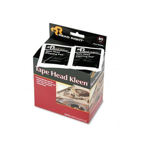 Advantus Corp. Tape Head Kleen Pad, Individually Sealed Pads, 5 x 5, 80/box