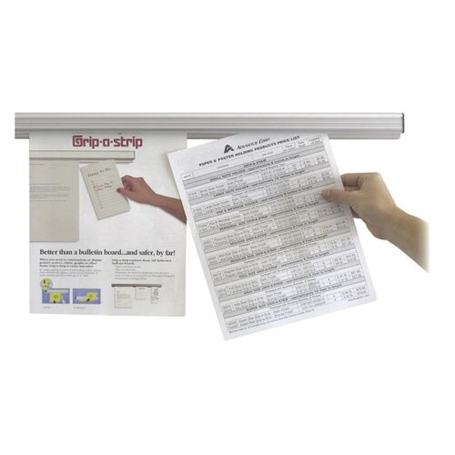 Advantus Corp. Message Holder, Double-sided Tape, Brackets/Screws, 3', Satin
