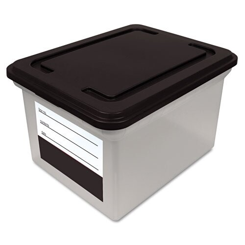 Advantus Corp. Innovative Storage Designs File Tote Storage Box with Snap-On Lid Closure, Letter/Legal