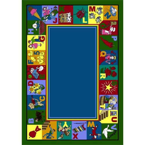 Joy Carpets Educational My Favorite Rhymes Kids Rug
