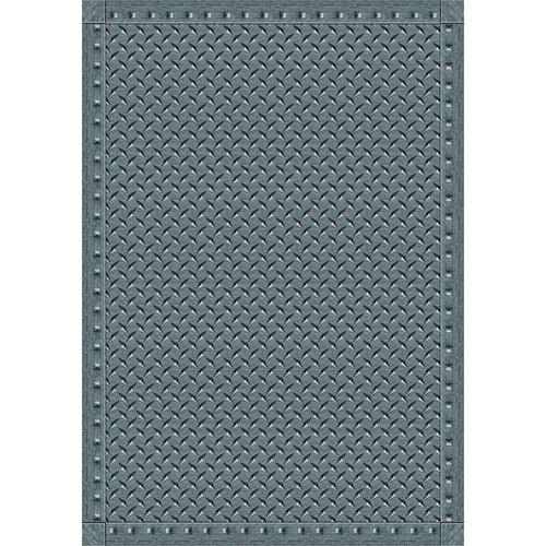 Joy Carpets Whimsy Family Legacies Lead Gray Diamond Plate Rug